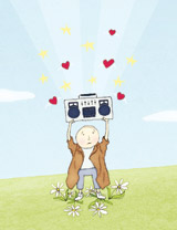 Boombox Love greeting cards valentine day