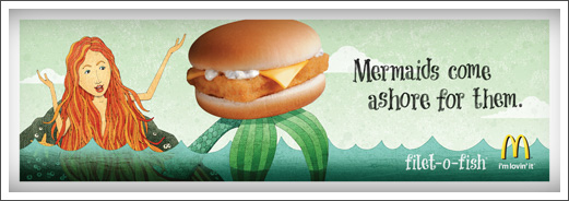 McDonalds Advertising Illustration Filet-O-Fish Mermaid © RAWTOASTDESIGN