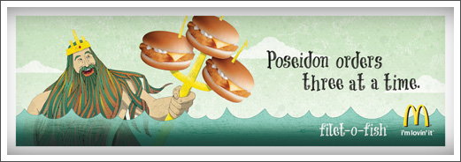 McDonalds Advertisements Filet-O-Fish Poseidon © RAWTOASTDESIGN
