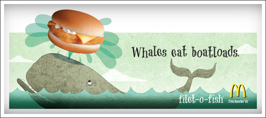 Advertising Illustration McDonalds Filet-O-Fish Whale © RAWTOASTDESIGN