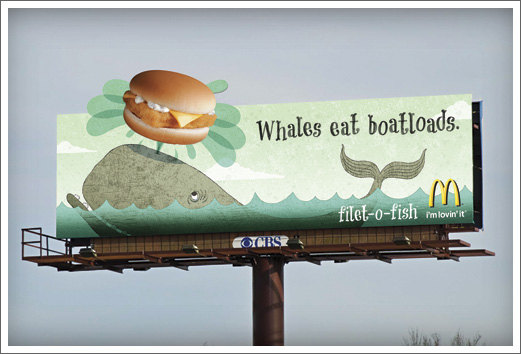 McDonalds Advertising Illustration OOH Filet-O-Fish Whale © RAWTOASTDESIGN